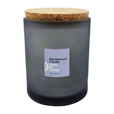 16.9oz Lidded Frosted Jar Sandalwood - Made By Design™