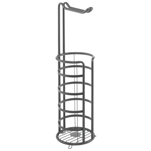 mDesign Metal Toilet Paper Holder Stand and Dispenser, Holds 4 Rolls - image 1 of 4