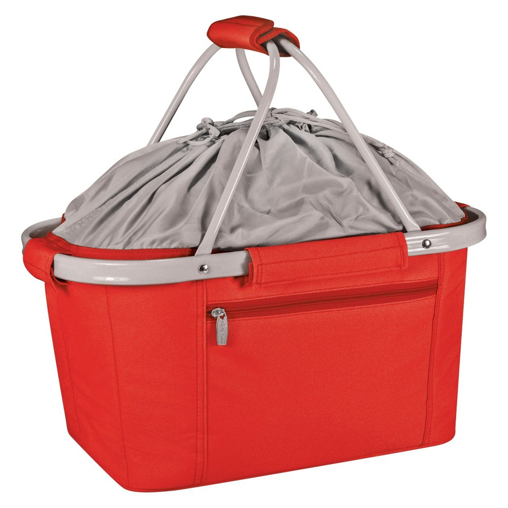 Image of Picnic Time Metro Collapsible Basket - Red, Red Gray