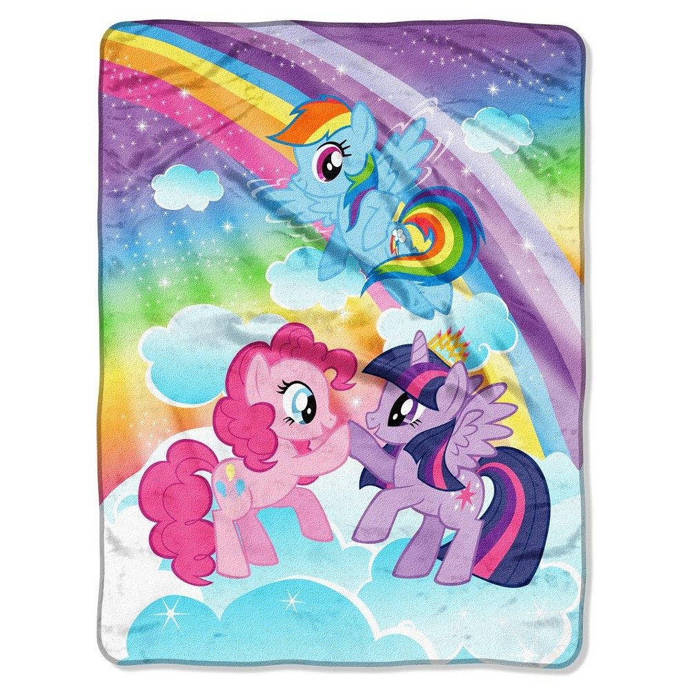 "Image of ""My Little Pony Microfleece Throw 46""""x60"""" - Hasbro, Multi-Colored"""