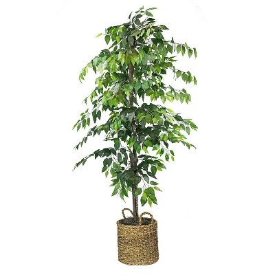"72"" Artificial Ficus Tree in Basket - LCG Florals"