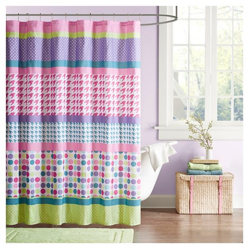 Shapes Shower Curtain Purple Pink