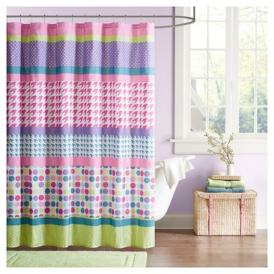 Shapes Shower Curtain Purple/Pink