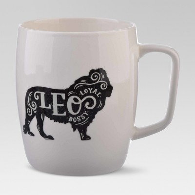 Porcelain Zodiac Leo Mug 18oz White - Threshold™