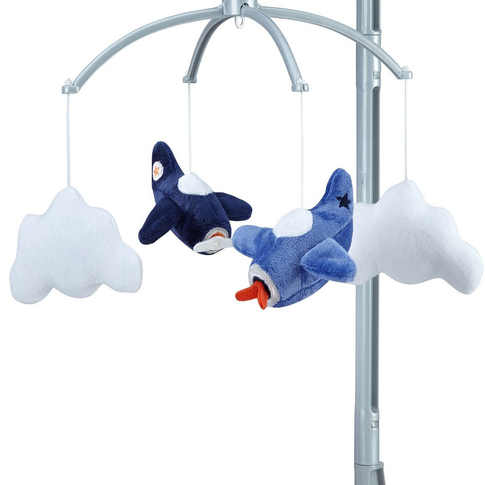 Image of Carter's Take Flight Airplane Nursery Crib Musical Mobile