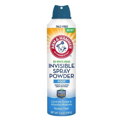 Body Powder: Arm & Hammer Invisible Spray Foot Powder