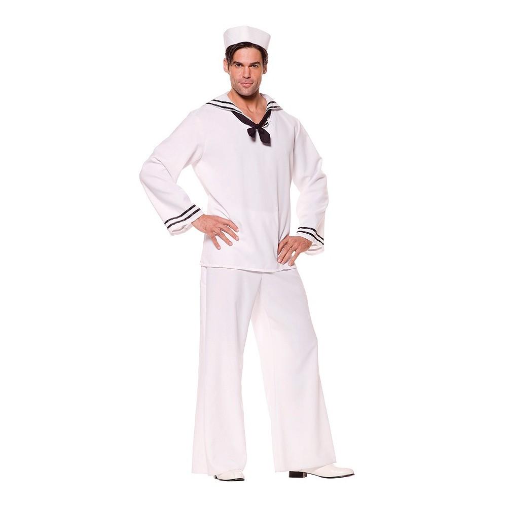 Men's Sailor Shirt Costume White X-Large, Size: XL