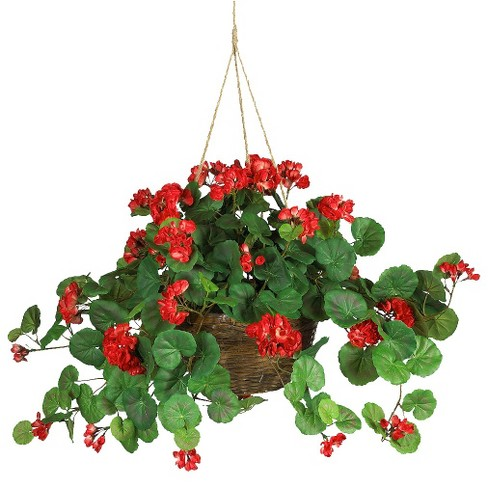 Nearly Natural 6607 Spider Hanging Basket Silk Plant