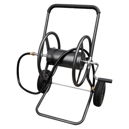 2 Wheel Steel Hose Reel Cart 200ft 5 8 Hose Gray Target