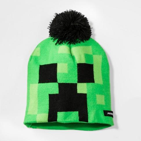 49b3643c3e06b Boys  Minecraft Pom Beanie - Green One Size   Target