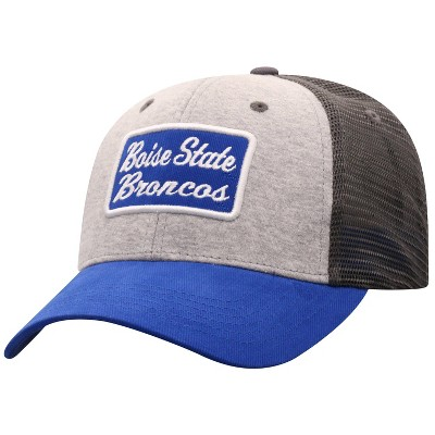 NCAA Boise State Broncos Men's Gray Cotton with Mesh Snapback Hat