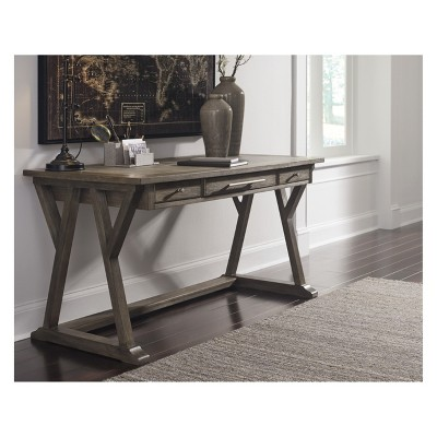 Genial Luxenford Home Office Large Leg Desk Taupe   Signature Design By Ashley :  Target