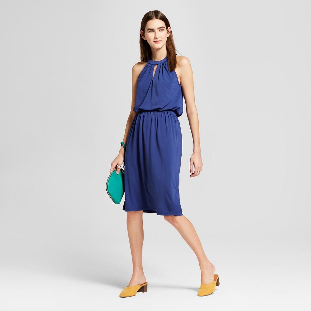 Women S High Neck Knit Dress Mossimo 8482 Blue Xl