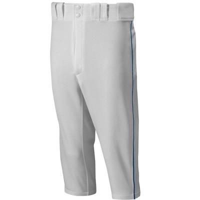 Mizuno Men's Premier Short Piped Baseball Pant Mens Size Extra Large In Color Grey-Navy (9151)