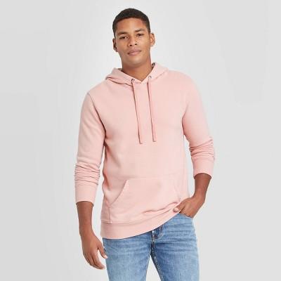 Men's Regular Fit Fleece Pullover Hoodie - Goodfellow & Co™ Pink