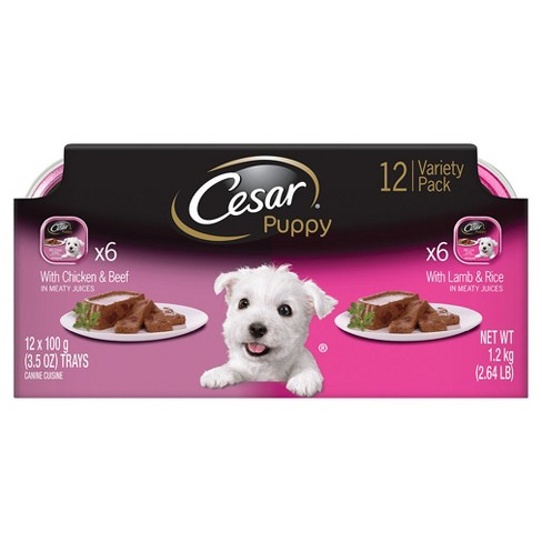 Cesar Canine Cuisine Puppy (Variety) - Wet Dog Food - 3.5oz/12pk - image 1 of 3