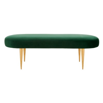 Corinne Velvet Oval Bench   Safavieh by Safavieh