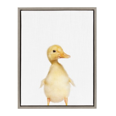 """18"""" x 24"""" Sylvie Duck Framed Canvas by Amy Peterson Gray - Kate and Laurel"""