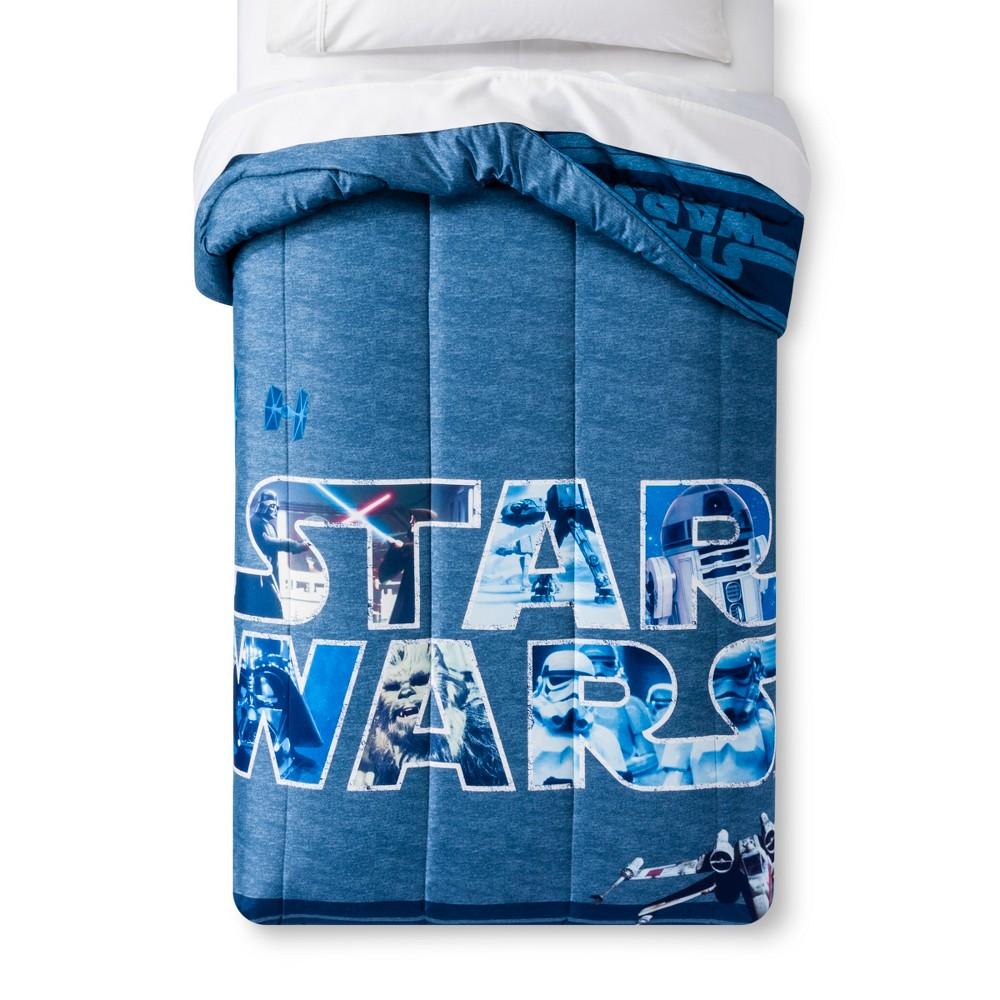 Star Wars Classic Logo Blue Comforter (Full)