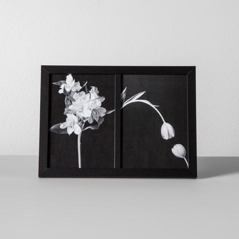 thin frame holds 2 photos black 5 x7 made by design. Black Bedroom Furniture Sets. Home Design Ideas