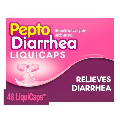 Pepto Bismol Diarrhea LiquiCaps Gelcap - 48ct
