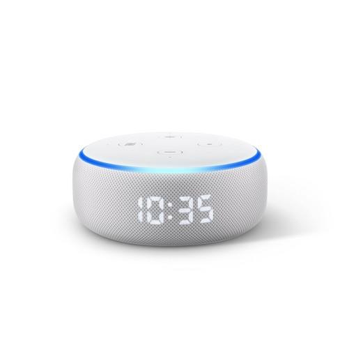 Amazon Echo Dot (3rd Gen) - With Clock - Sandstone - image 1 of 4