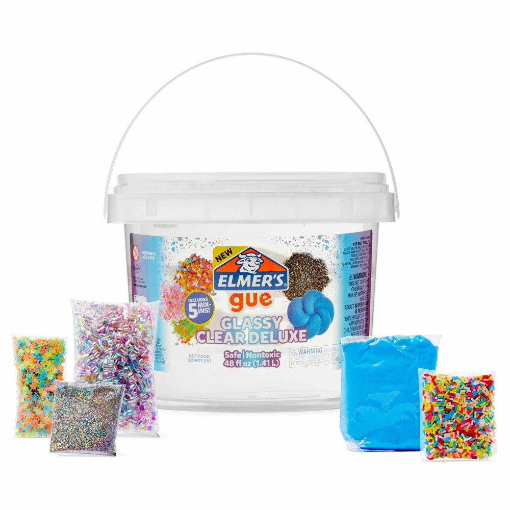 Elmer 39 S 3lb Gue Premade Slime With Mix Ins Clear