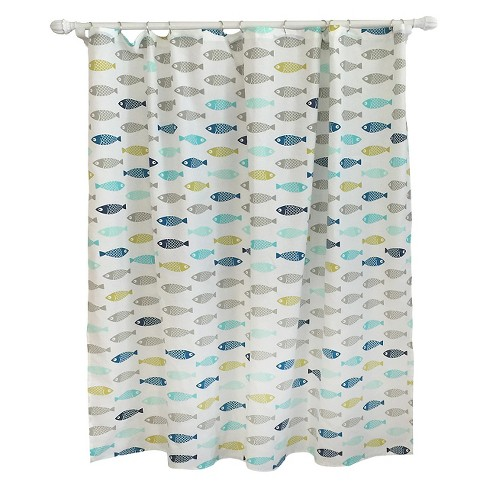 Fish Shower Curtain Calm Gray
