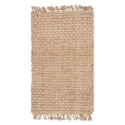 Natural Solid Loomed Area Rug - (4'x6')- Safavieh