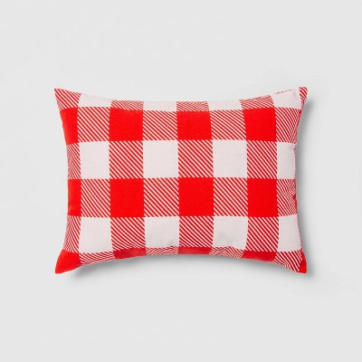 Indoor/Outdoor GinghamThrow PillowRed/White - Sun Squad™