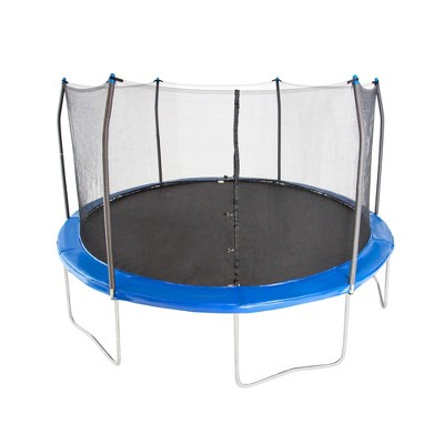Skywalker Trampolines 15' Round Trampoline with Enclosure - Bright Blue