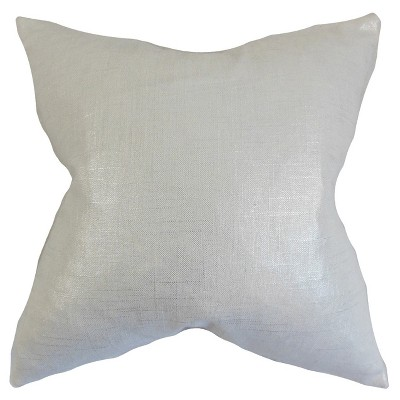 Silver Square Throw Pillow (20 x20 )- The Pillow Collection