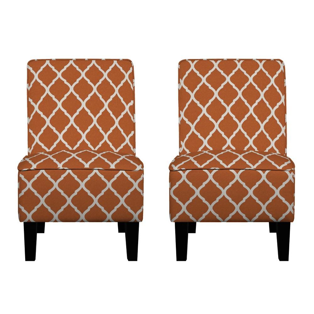 Branson Chair Set - Orange - Handy Living