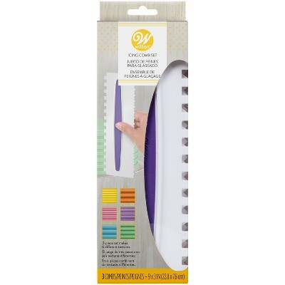 Wilton 3pc Icing Smoother Comb Set