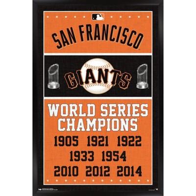 Trends International MLB San Francisco Giants - Champions Framed Wall Poster Prints