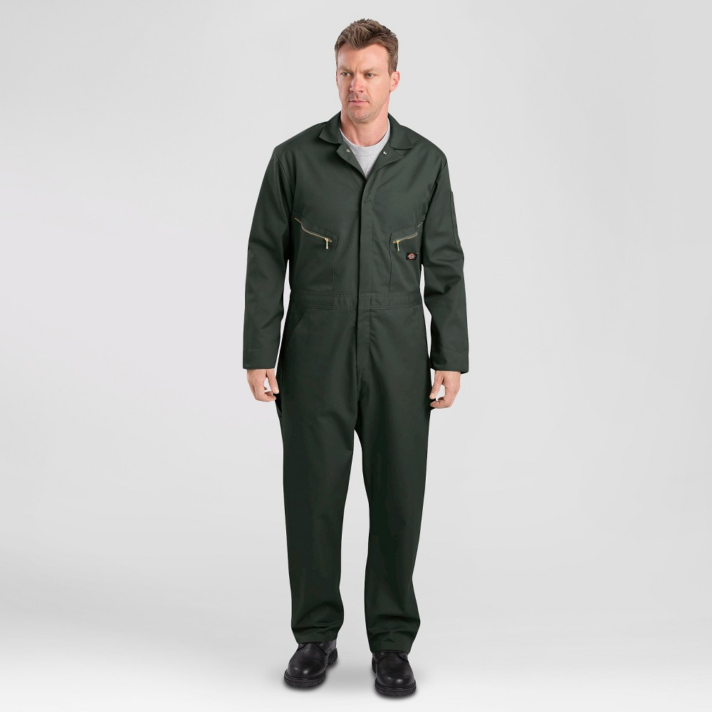 Dickies Men's Big & Tall Deluxe Long Sleeve Blended Twill Coverall- Olive Green Xxl Tall