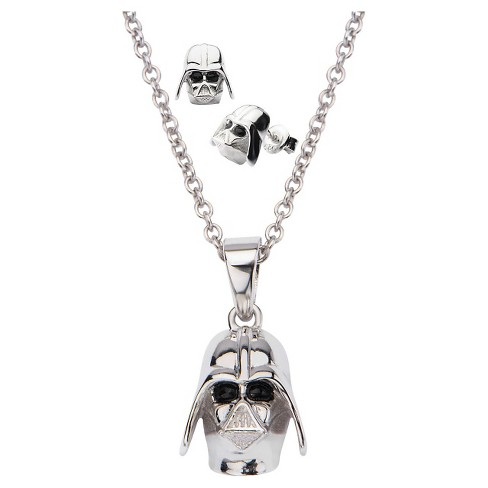 Women s  Star Wars  Darth Vader 925 Sterling Silver 3D Earrings And ... 384d7806602