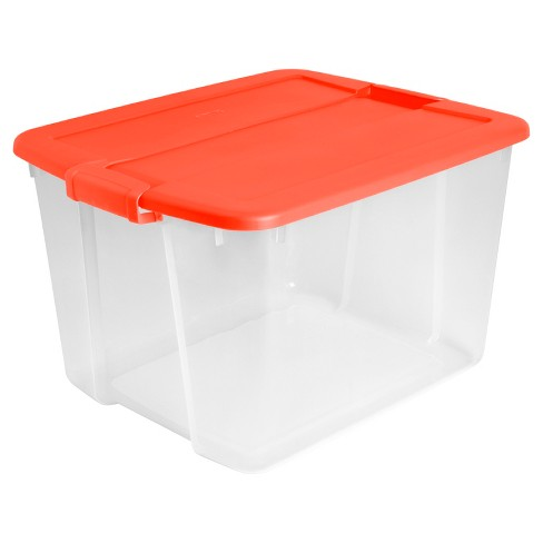 Utility storage tubs and Totes Plastic&nbspClear&nbsp - Room Essentials™ - image 1 of 2