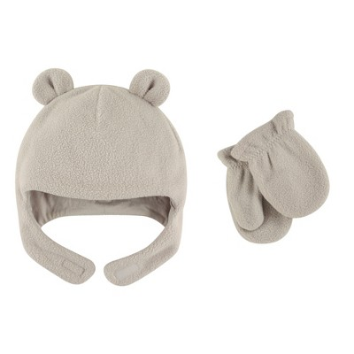 Luvable Friends Toddler Beary Cozy Hat and Mitten Set 2pc
