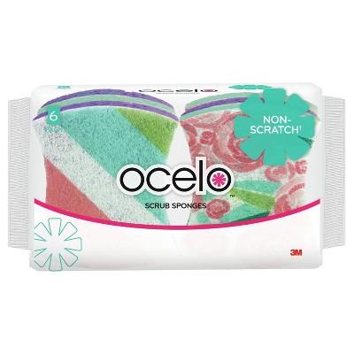 ocelo Non Scratch Scrub Sponge - 6pk