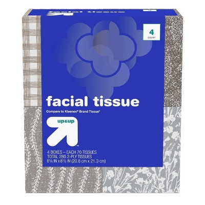 Facial Tissue 4pk/70ct - Up&Up™