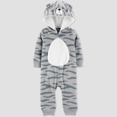 Baby Boys' Tiger Hooded Romper - Just One You® made by carter's Gray 3M