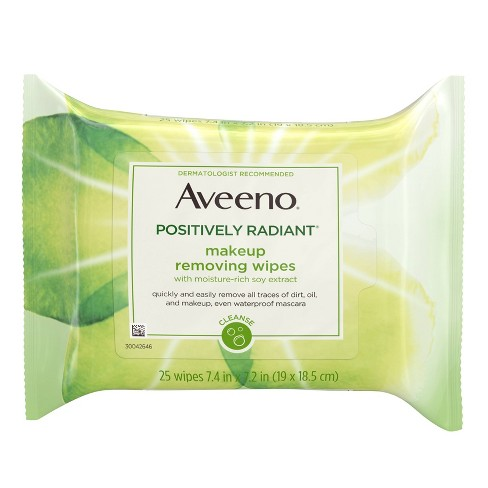 dd133717761 Aveeno Positively Radiant Oil Free Makeup Removing Wipes - 25ct : Target