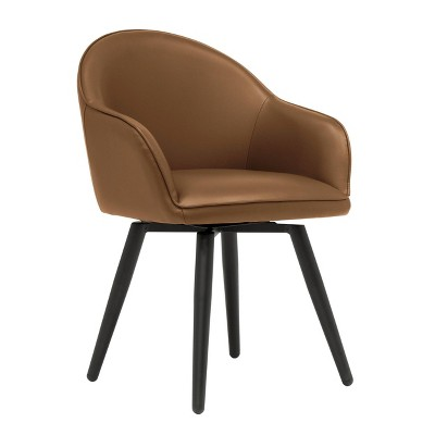 Dome Swivel Office/Dining/Guest Accent Chair with Arms Leather - Studio Designs Home
