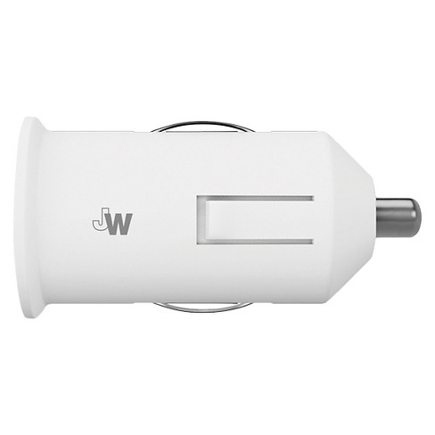 Apple & Micro USB 2.1A - No Cable - White - Car Charger - image 1 of 1
