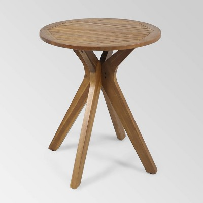 Stamford Round Acacia Wood Bistro Table with X Legs - Christopher Knight Home
