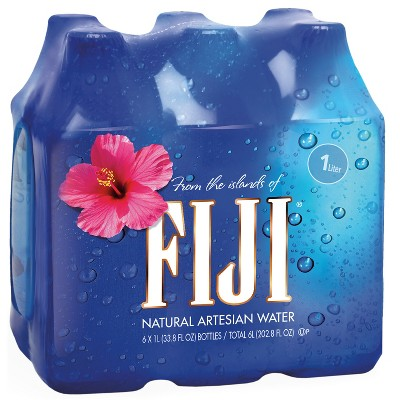 FIJI Natural Artesian Water - 6pk/1L Bottles