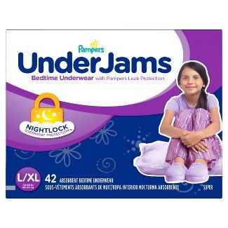 Pampers UnderJams Girls Bedtime Underwear Super Pack Size L/XL (42 ct)