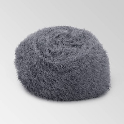 Lachlan Furry Bean Bag - Christopher Knight Home