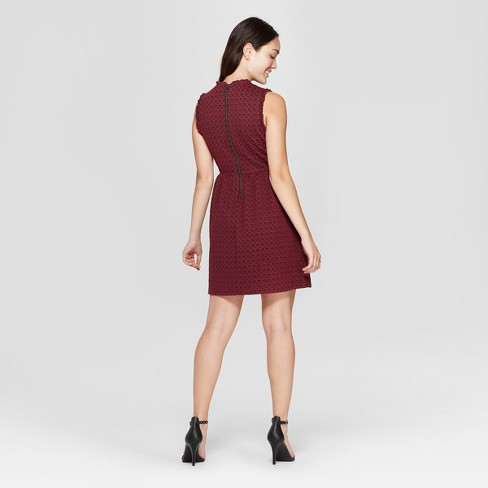 d4b909ae75b4d Women s Sleeveless Knit Jacquard Dress - Xhilaration™   Target